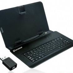 Husa cu tastatura Vakoss TK-556UK neagra 10 inch - Husa tableta cu tastatura
