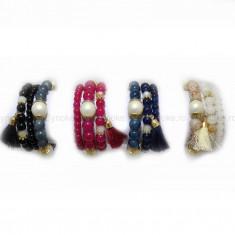 Bratara Summer Pearls (Culoare: rosu) - Bratara Fashion