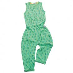 Salopeta Indikidual, model Tails, unisex, verde, 4-5 ani