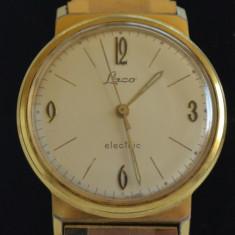 Ceas vintage LACO Electric calibru 861 placat aur, anii '60 - Cutie Ceas