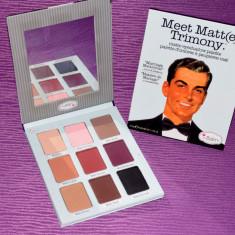 Trusa machiaj 9 culori theBalm cosmetics Meet Matt(e) Trimony paleta farduri - Trusa make up