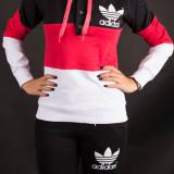 Trening ADIDAS negru-roz-alb DAMA bumbac.Model NOU 2016-editie limitata - Trening dama Adidas, Marime: S, M, L, XL, XXL, Culoare: Din imagine