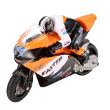 Motocicleta iUni MotoToy 222, Giroscop, Scara 1:10, Portocaliu