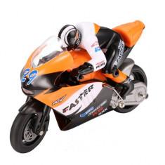 Motocicleta iUni MotoToy 222, Giroscop, Scara 1:10, Portocaliu - Masinuta de jucarie