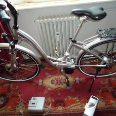 Vand, numai in Oradea, bicicleta de dama, FLER, electrica, completa, autonomie 80 km - Bicicleta electrice, 17 inch, 28 inch, Numar viteze: 8