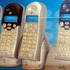 SET 4 TELEFOANE DIGITALE WIRELESS - BINATONE MD 2600 QUAD - Telefon fix