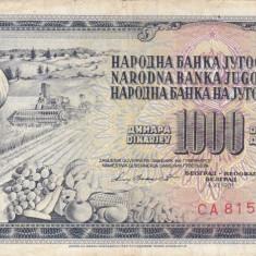 IUGOSLAVIA 1.000 dinara 1981 VF!!!