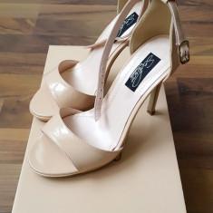 Sandale stiletto piele - Sandale dama, Marime: 34, Culoare: Din imagine