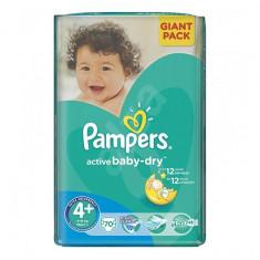 Scutece PAMPERS GIANT PACK 4 PLUS ACTIVE BABY Pentru Copii - Scutece unica folosinta copii