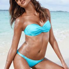 Costum de baie Victoria's Secret sutien bandeau push-up detasabil si slip bikini, Marime: Alta, Culoare: Din imagine, Doua piese