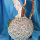 Ol-vas-ulcior din majolica Palissy, facuta manual in stil Victorian - Arta Ceramica