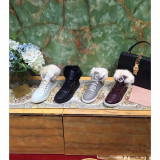 Sneakers dama fara toc GUCCI - piele si blanita naturala - Ghete dama Gucci, Marime: Alta, Culoare: Alb, Gri, Negru, Visiniu, Piele naturala