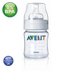 Biberon Philips Avent Airflex 125ml/4oz 1H - biberoane - alaptare nou nascuti, 0-6 luni, Fara BPA