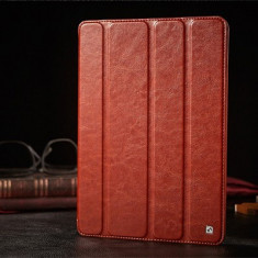 Husa / toc LUX piele fina HOCO Crystal, iPad 2 3 4, smart cover, MARO CONIAC - Husa Tableta