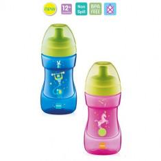 Cana tip biberon cu cioc MAM Sports 330 ml / Canita roz fetite / albastra baieti - Cana bebelusi Altele, 0-4 ani