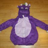 Costum de carnaval serbare dragon pentru copii de 1-2-3 ani - Costum Halloween, Marime: Masura unica, Culoare: Din imagine