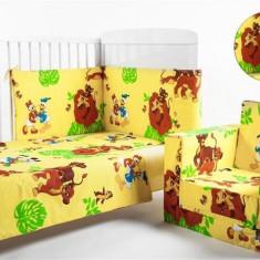Bebedeco-Set Lenjerie 3 Piese Lion King - Lenjerie pat copii
