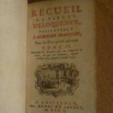 1750 - Recueil de Pieces D'Eloquence - Tome IV - Carte veche